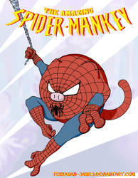 Spider-Mankey 01c by Tekkaman-James