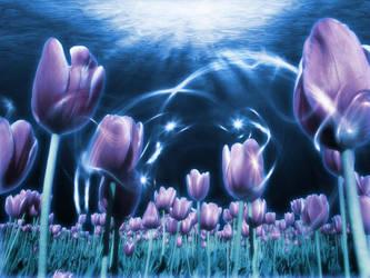 Underwater Flower Scene by needleskane21