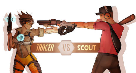 Tracer VS The Scout by Anime-Grimmy
