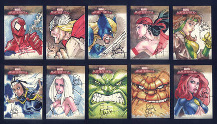 Marvel Cards Pt 1 by RandyGreen