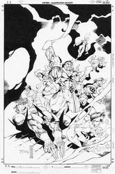Give-away X-Men cover by RandyGreen