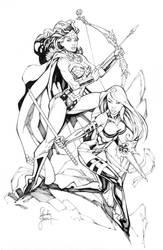 Wonder Woman and Psylocke by RandyGreen