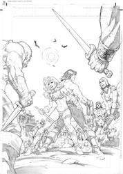 Conan vs Red Sonja page 2 by RandyGreen
