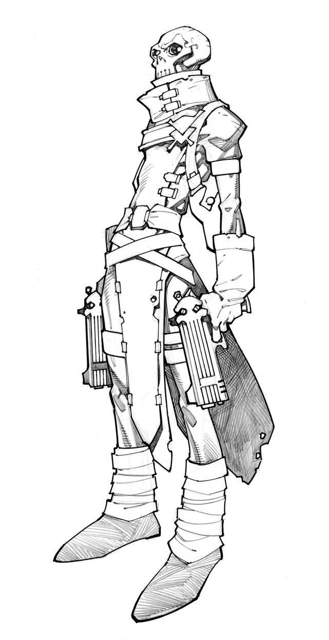 Gun Ghoul by RandyGreen