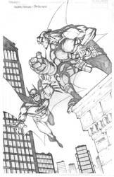 Batman and Hellboy by RandyGreen