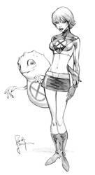 Ugogirl Con Sketch by RandyGreen