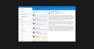 Windows 10 NEON: Mail by lukeled