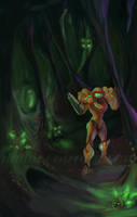Unfamiliar World - Metroid by tomgiest