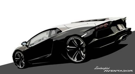 Lamborghini Aventador Vector by LostPr0ph3t