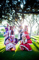 Touhou Project - Group shot by vensii