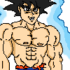 Goku UI Omen | Pixel Art by vSHN