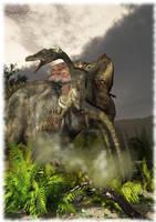 Protoceratops vs Velociraptor by Elperdido1965