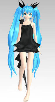 MMD PDA FT Deep Sea Girl Miku Dl by Rin-Chan-Now