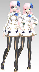 MMD PDAFT Nagisa Replica Luka Dl by Rin-Chan-Now