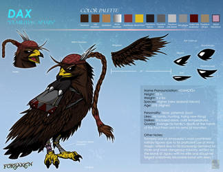 Dax Character Sheet by Primogenitor34