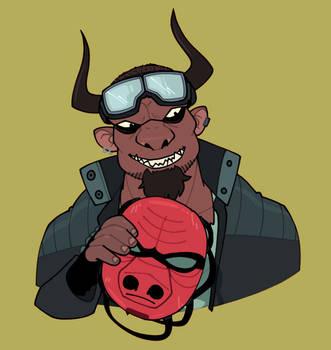 Bubba - Shadowrun Minotaur by yarrik6