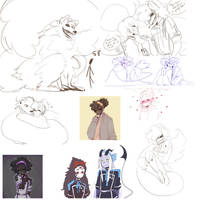 DAMMED that's a lot of sketches 4 by cosmicguts