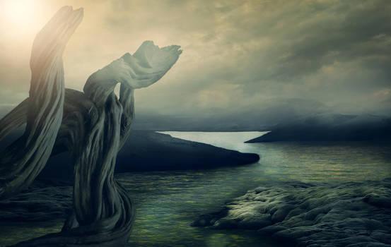 fantasy landscape 02 - premade background by Dark-WorkX