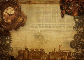 steampunk background by darkmoon1968