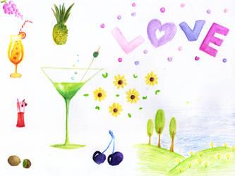 Lovely Jumble For Dear Icecream's Birthday by HapeeBizeeBeez