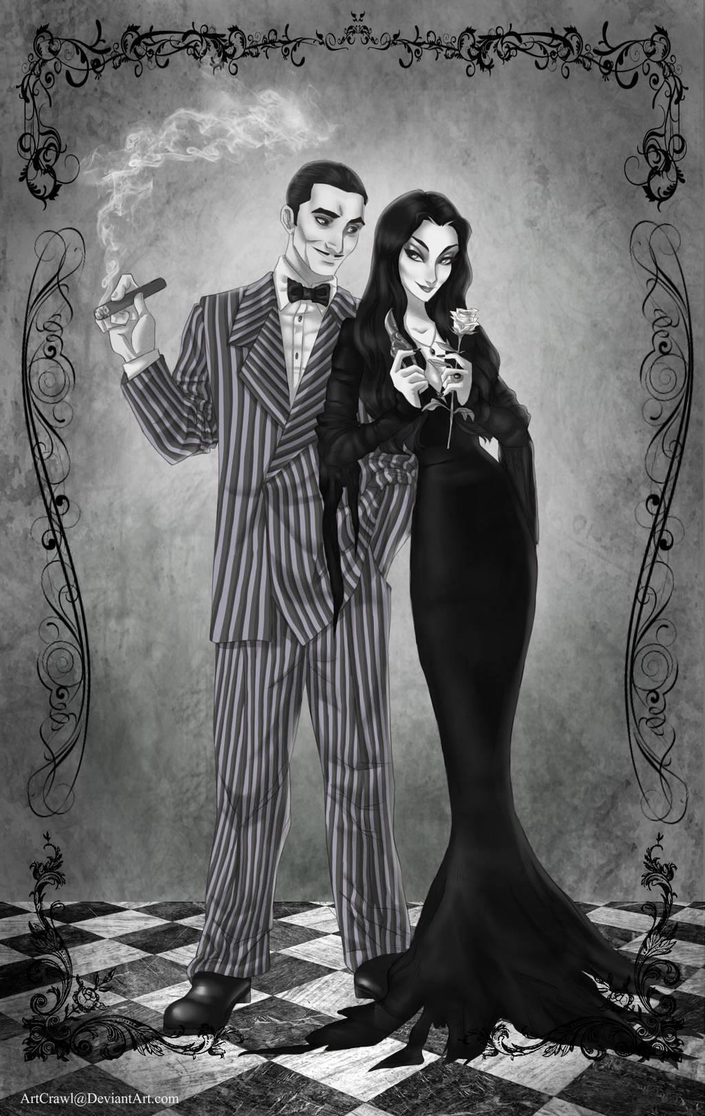 Gomez and Morticia by ArtCrawl on DeviantArt