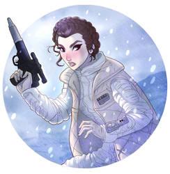 Leia on Hoth by ArtCrawl
