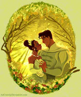 Tiana and Naveen by ArtCrawl