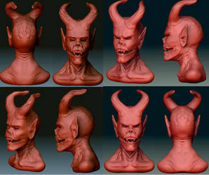 Demon Head Concepts. by LOckaduda