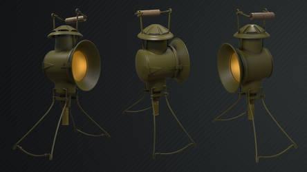 High Poly WW2 Japanese Lantern by BabylonYoke