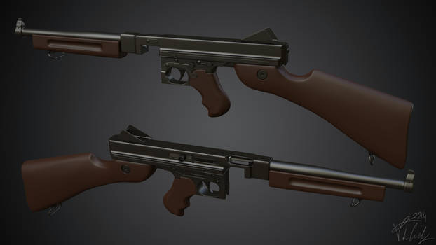 Thompson M1A1 High Poly by BabylonYoke