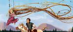 Rapunzel on a swing by Arbetta