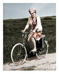 Juliana riding a bike by Julanna