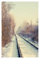 winter railway by Julanna