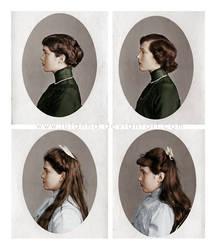 Olga, Tatiana, Maria, Anastasia by Julanna