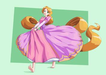 [Commission for MinervaBlackwald] Rapunzel by JulianVanist
