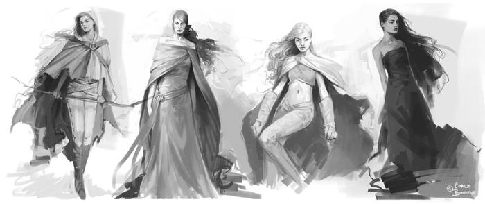 Sketch Set by Charlie-Bowater