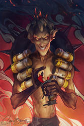 Junkrat - 21 Days of Overwatch! by Charlie-Bowater