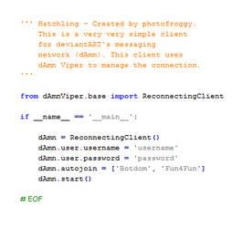 dAmn Hatchling by photofroggy