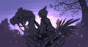 FFXIV Fanart - Twilight over Thanalan - Silhouette by Kinoukiri