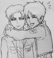 Heichou gets a hug by Bev-Nap