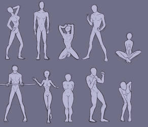 Random Body Poses #1 by Bev-Nap