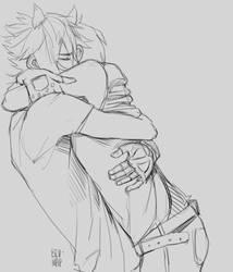 Promptis Hug WIP by Bev-Nap