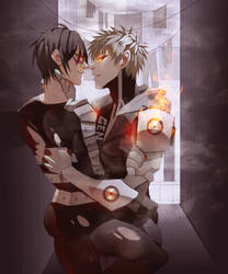 Genos x Sonic OPM (Commission) by Bev-Nap
