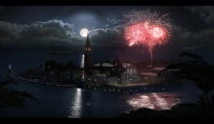 matte painting venecia night! by campanoo