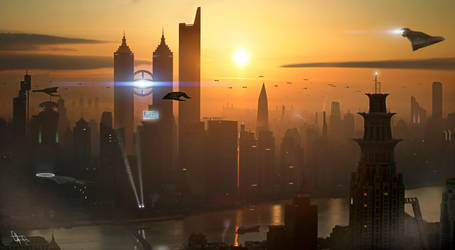 concept art sci-fi by campanoo
