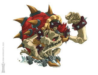 Dry Bowser: Mario Kart collab by RobbVision