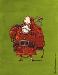 Arctic Explorer Santa by RobbVision