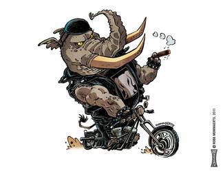 Bikerphant by RobbVision