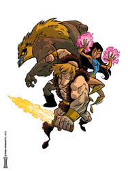 Thundaar the Barbarian by RobbVision