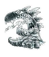 Inktober Zilla #16 by RobbVision